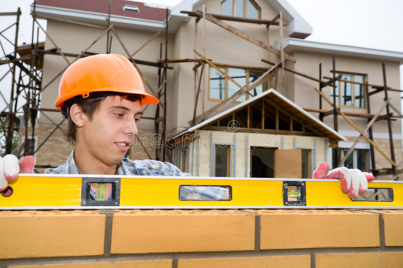 Download Bricklayer Stock Image - Image: 3237701