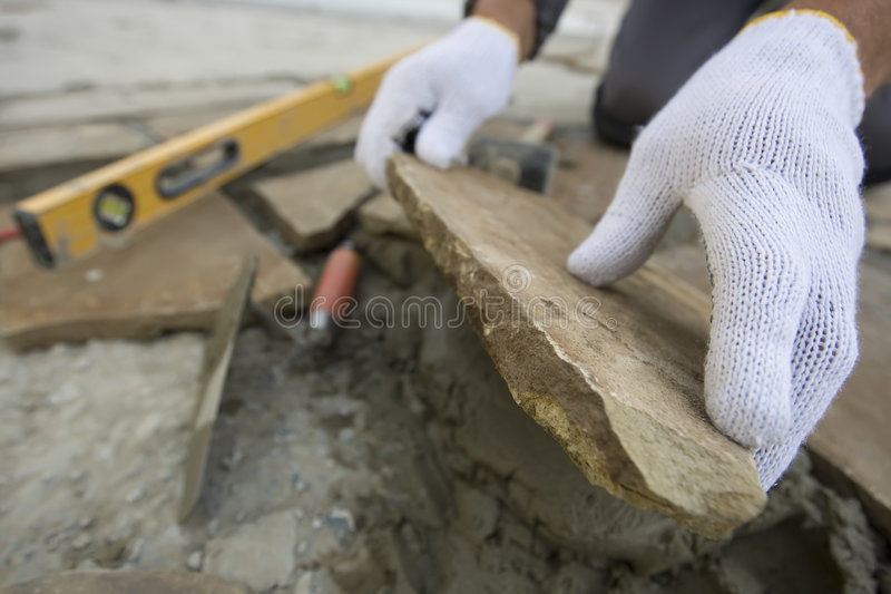 Download Bricklayer stock photo. Image of cement, bricklayer, built - 7788908
