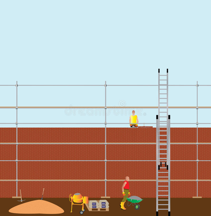 Bricklayer royalty free illustration