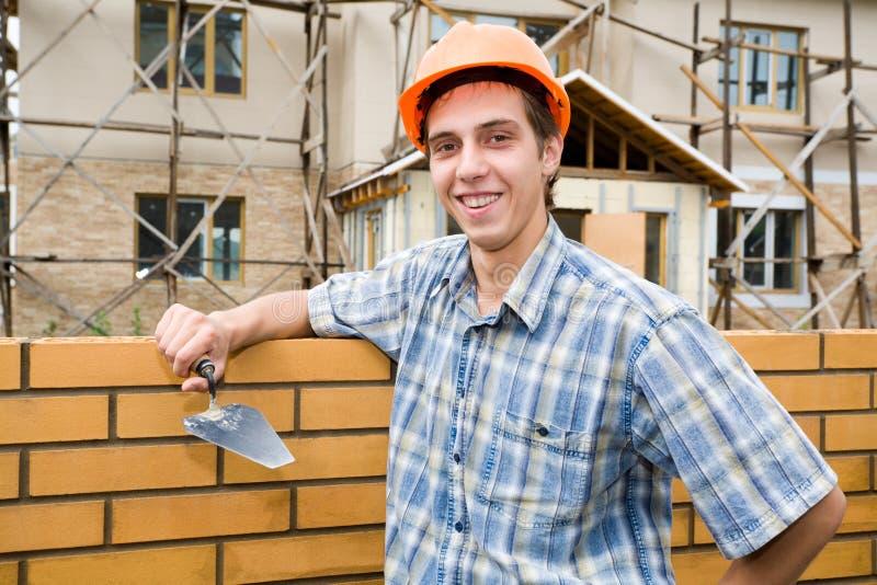 Download Bricklayer(mason) And Bricks Stock Photo - Image: 3477344