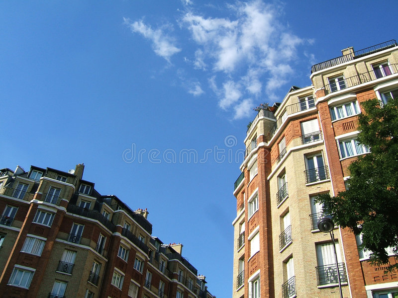Bricks Buildings In The Sky Royalty Free Stock Images
