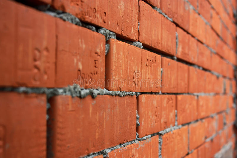 Bricks With Cement In Perspective Stock Images