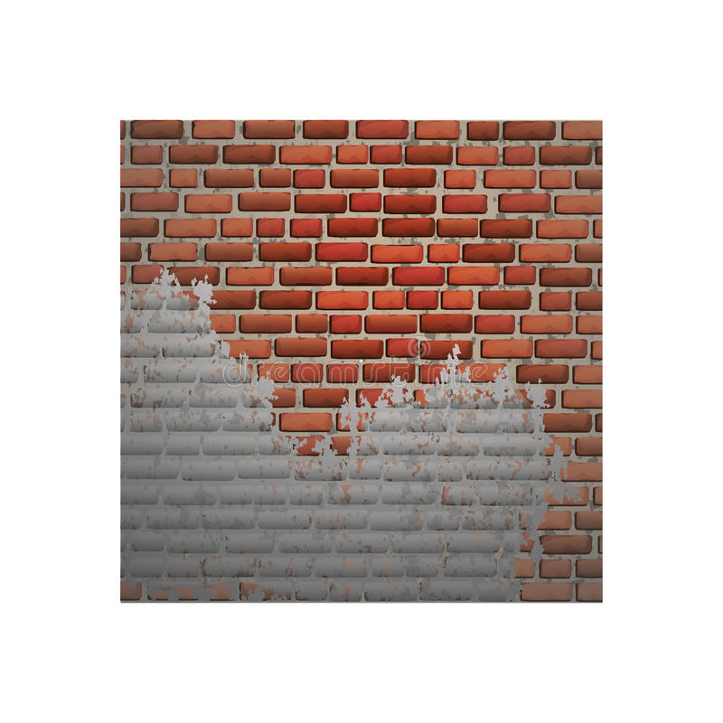 Isolated bricks frame design. Bricks frame icon. Wall style banner card and texture theme. Isolated design. Vector illustration stock illustration