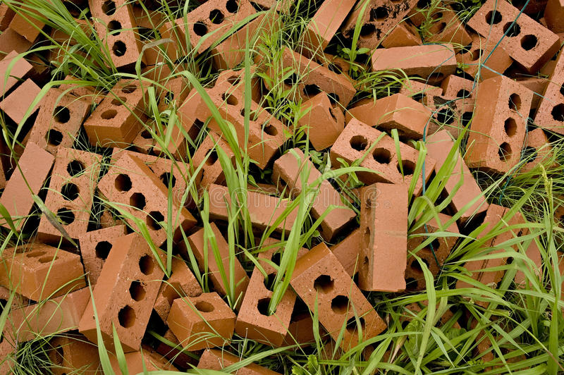 Download Bricks in grass stock photo. Image of house, modern, architecture - 22750462