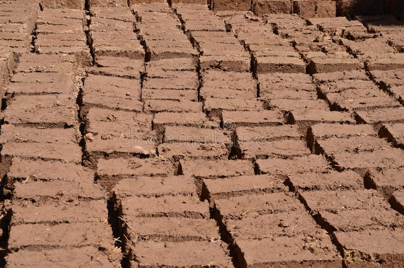 Bricks in the making royalty free stock photos