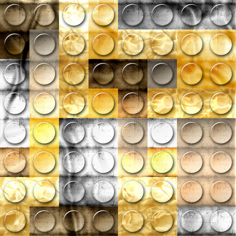Bricks of metal. Template of metal construction brick parts of gold, metal,iron,copper,platinum and silver vector illustration
