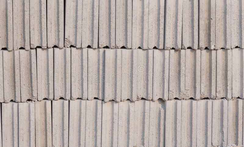 Bricks. Placed bricks in a row for construction stock photos