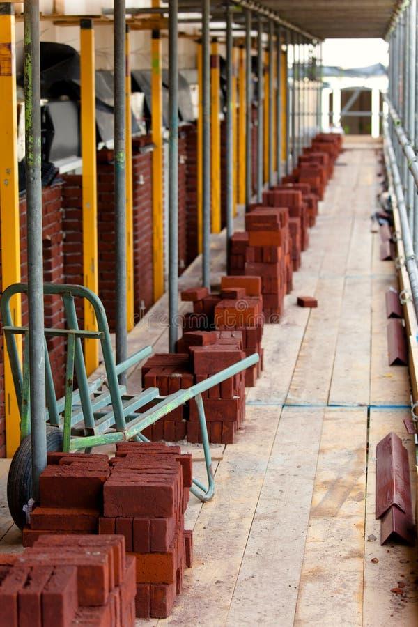 Bricks ready for bricklayer