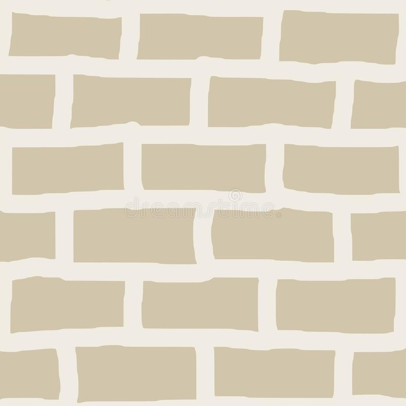 Bricks seamless pattern. Vector illustration of cartoon style wall with white bricks seamless pattern background. Editable eps file available stock illustration