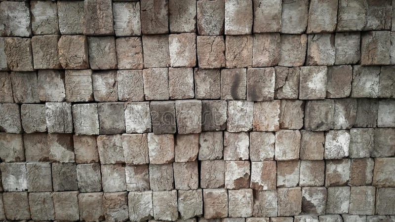 Bricks texture background. Bricks stacked up covering the complete frame royalty free stock images