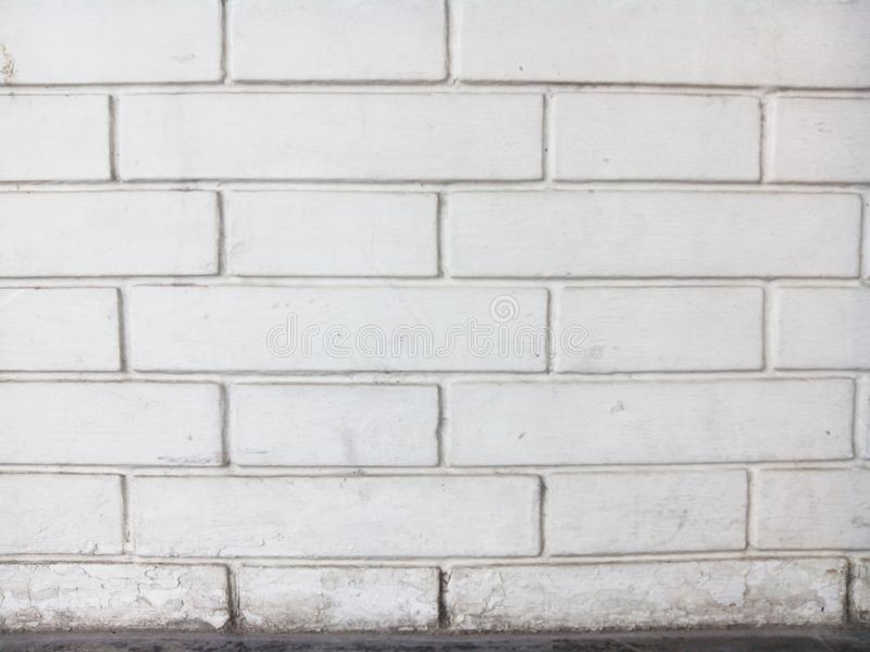 Bricks wall texture. White and dirty bricks wall texture royalty free stock image