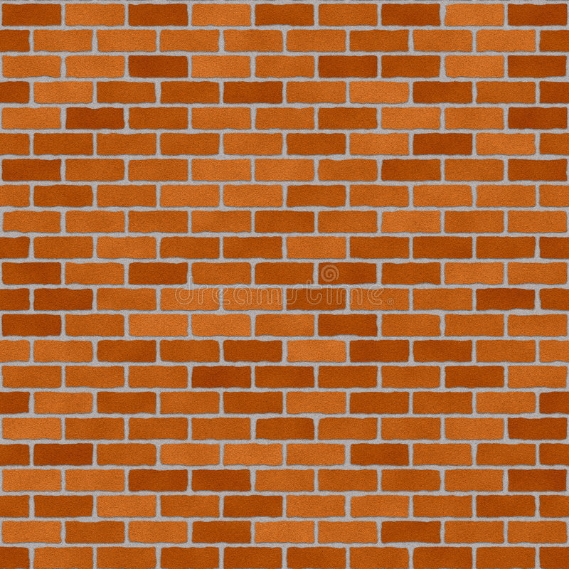 brickwall红色 库存例证