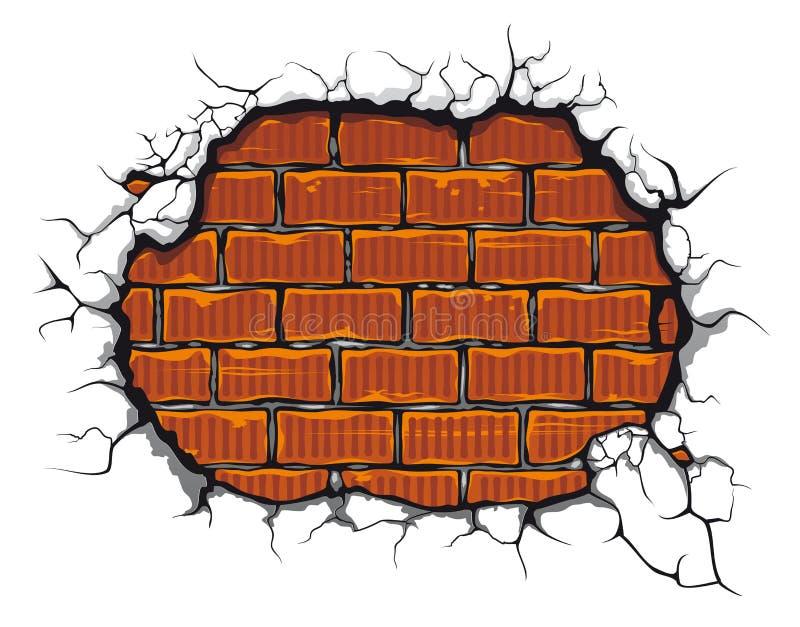 brickwall χαλασμένος διανυσματική απεικόνιση