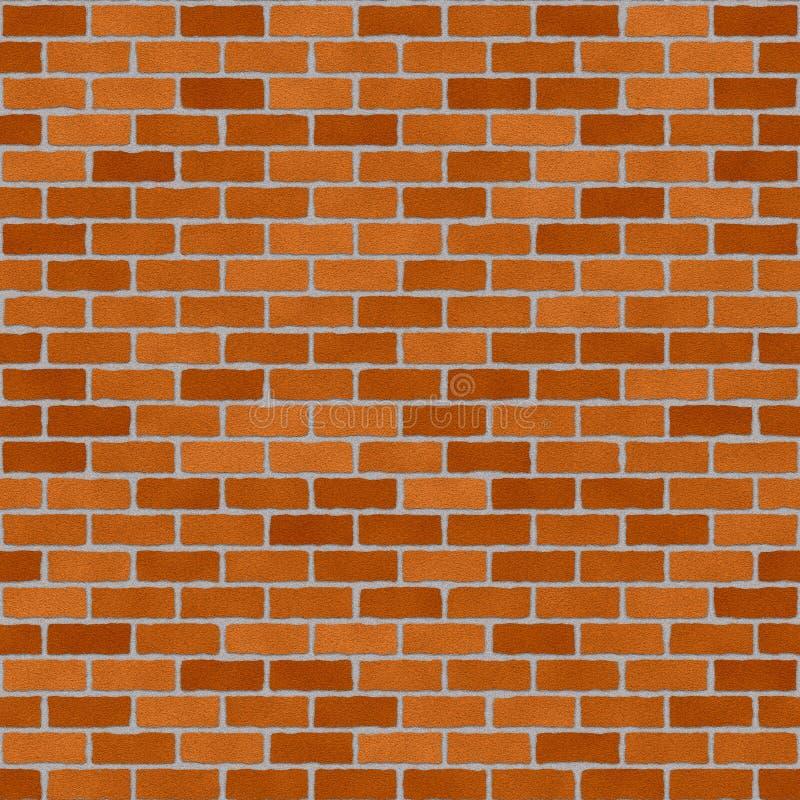 Brickwall rojo stock de ilustración