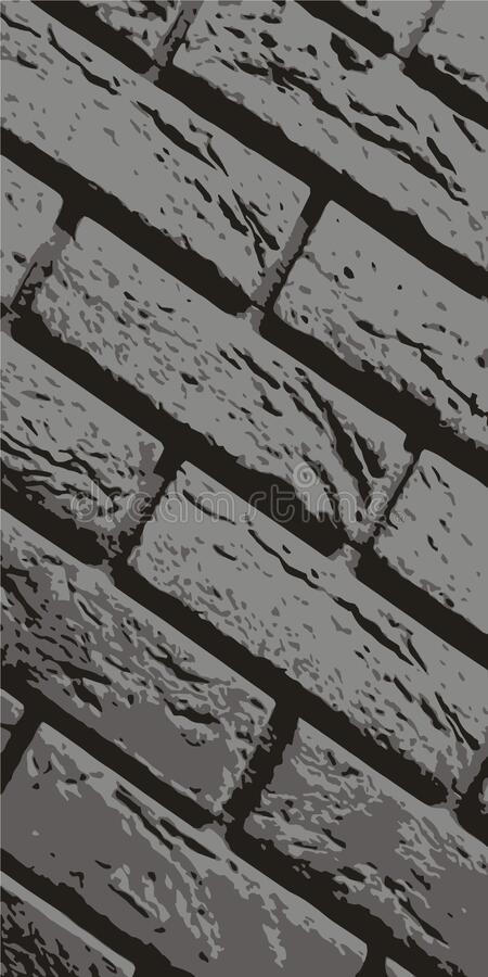 Brickwork. Brick wall. Vintage background for website, flyer. Vector illustration eps-10 stock image