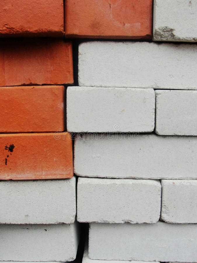 Brickwork. compilation, a combination of red and white, sand-lime brick. Grungy brick seamless pattern. Close up photo of a red and white brick wall stock photos