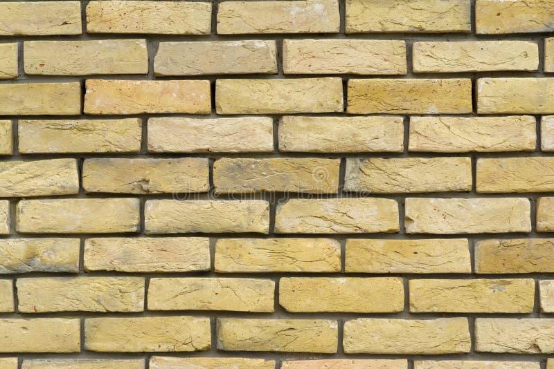 Brickwork od dekoracyjnych fasadowych cegieł obraz royalty free