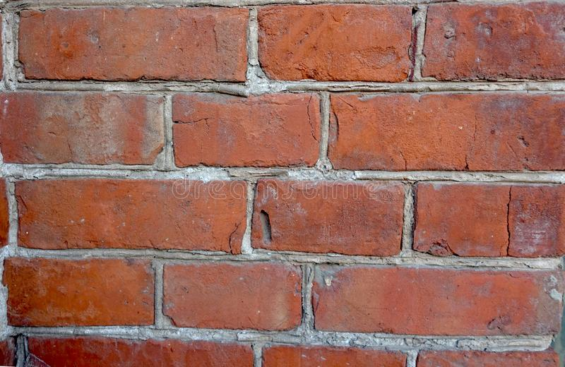 Brickwork from old red brick royalty free stock images