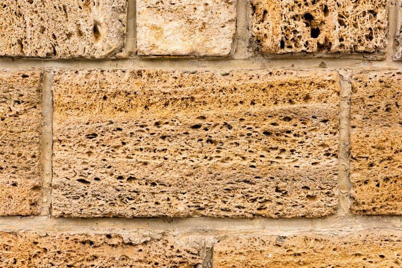 Brickwork skorupy skała Tło struktura wallah fotografia stock