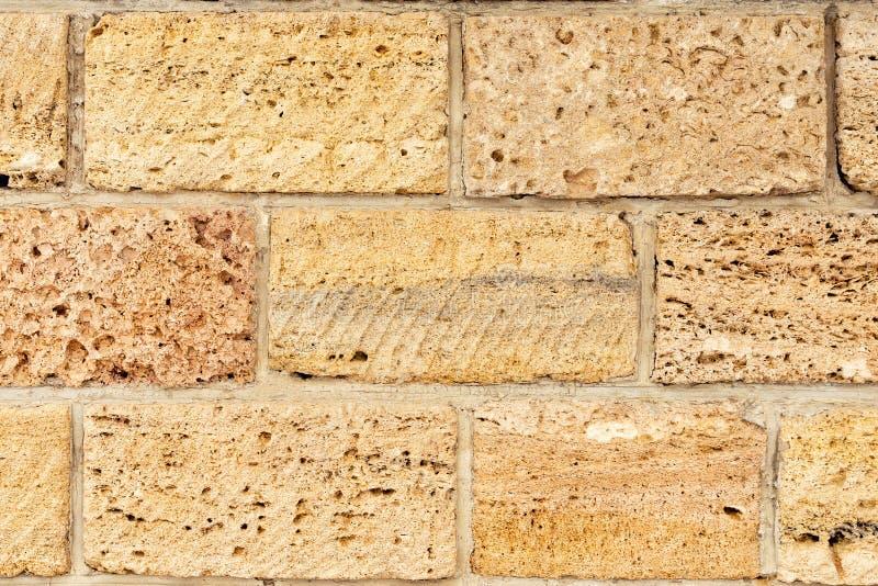 Brickwork skorupy skała Tło struktura wallah fotografia royalty free