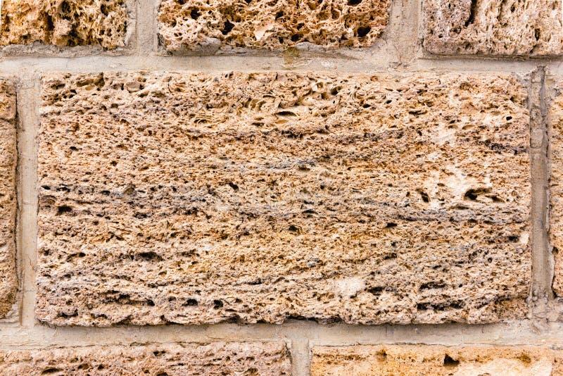 Brickwork skorupy skała Tło struktura wallah zdjęcia stock