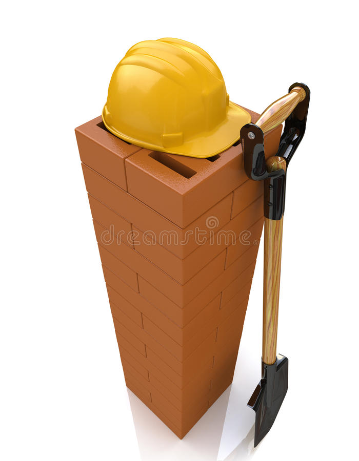 Brickwork and tools royalty free stock image
