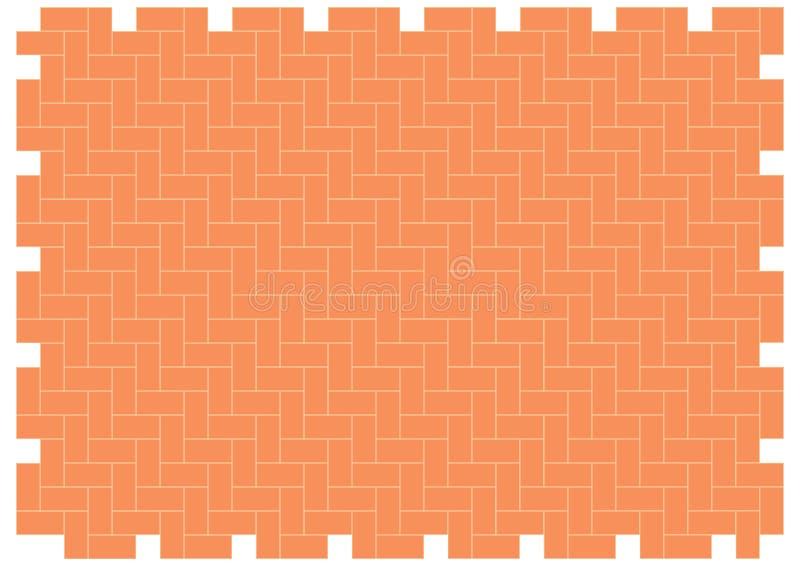 brickwork w jodełkę schematu royalty ilustracja
