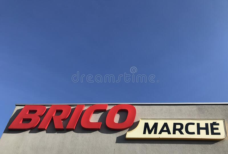 Brico Marche supermarket in Darlowo Poland royalty free stock photos