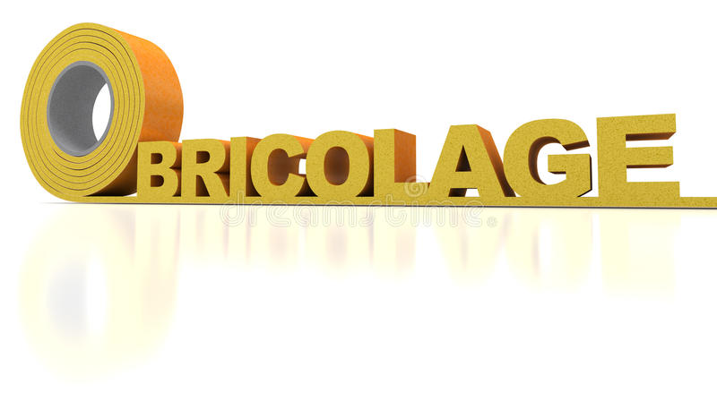 Bricolage. The French word Bricolage written in insulation tape royalty free stock images
