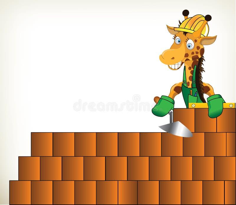 Bricoleur Giraffe illustration de vecteur