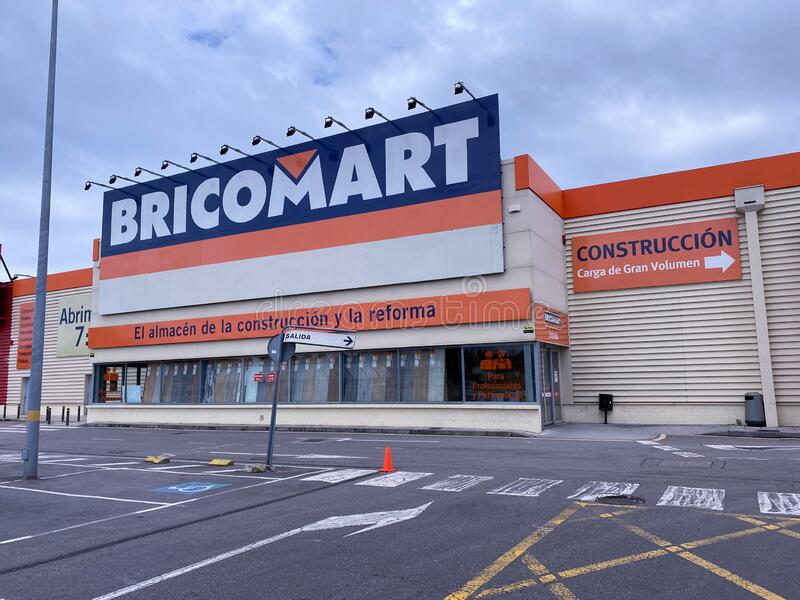 Bricomart sign on store facade stock image