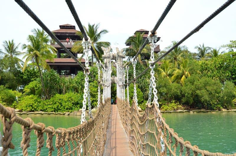 Bridżowa łączy Palawan plaża Południowy punkt Kontynentalny Azja obrazy stock
