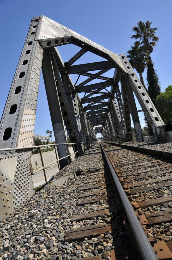 bridżowa żelazna linia kolejowa zdjęcia royalty free