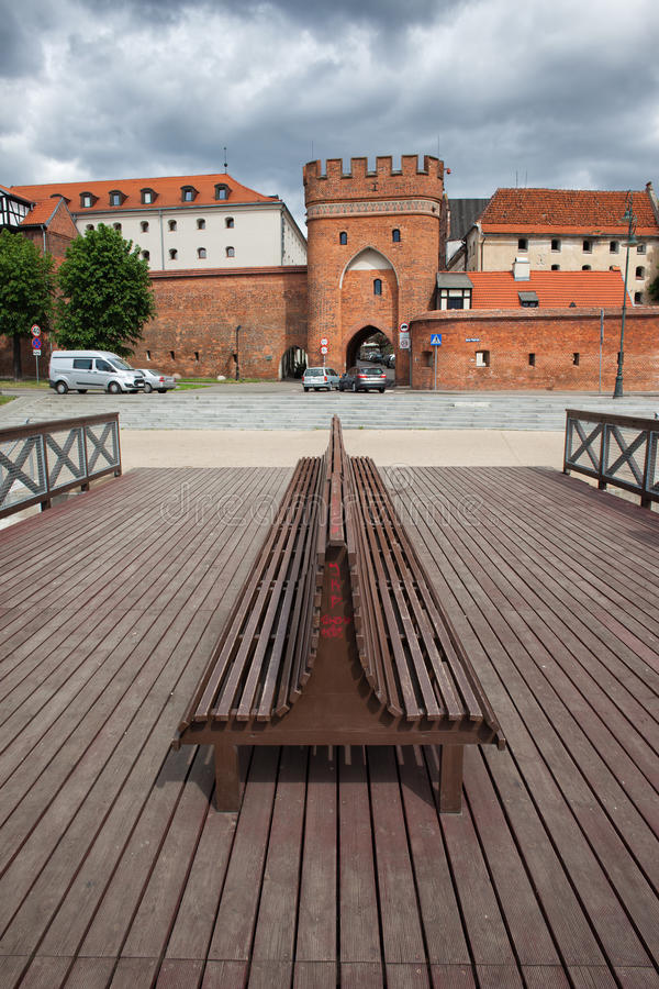 Bridżowa brama Stary miasteczko Toruński zdjęcia royalty free