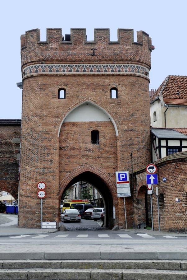 Bridżowa brama Toruński w Polska obraz stock