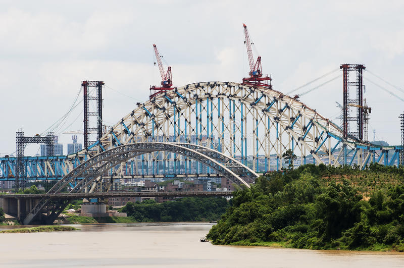 bridżowa budowa fotografia royalty free