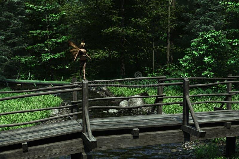 bridżowa czarodziejka ilustracja wektor