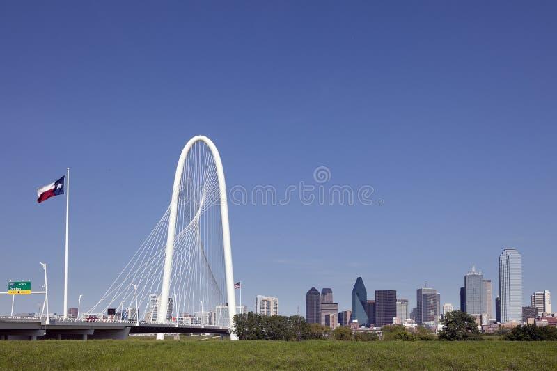 bridżowa Dallas wzgórza polowania Margaret linia horyzontu Texas zdjęcie royalty free