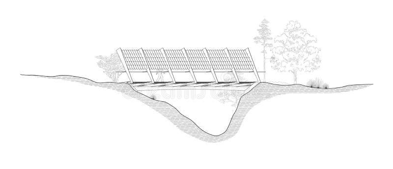 bridżowa elewacja ilustracji
