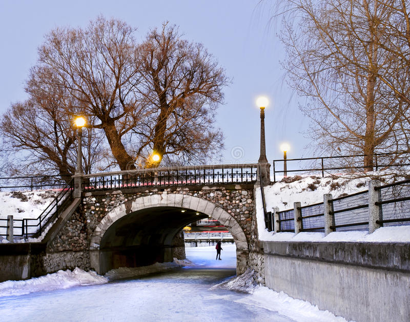 bridżowa kamienna zima fotografia royalty free