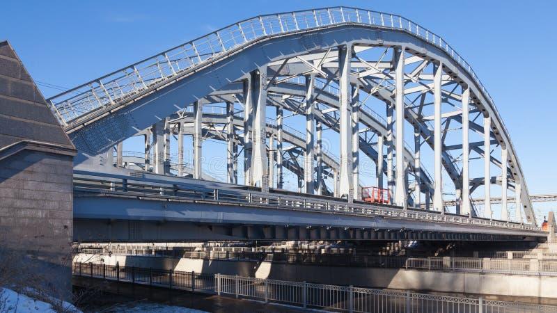 bridżowa miasta dzień krajobrazu kolej pogodna obraz royalty free