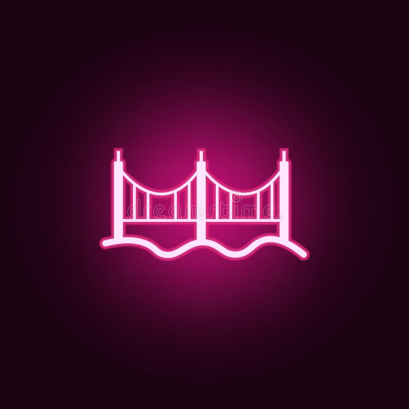 brid?owa neonowa ikona Elementy sie? set Prosta ikona dla stron internetowych, sie? projekt, mobilny app, ewidencyjne grafika ilustracji