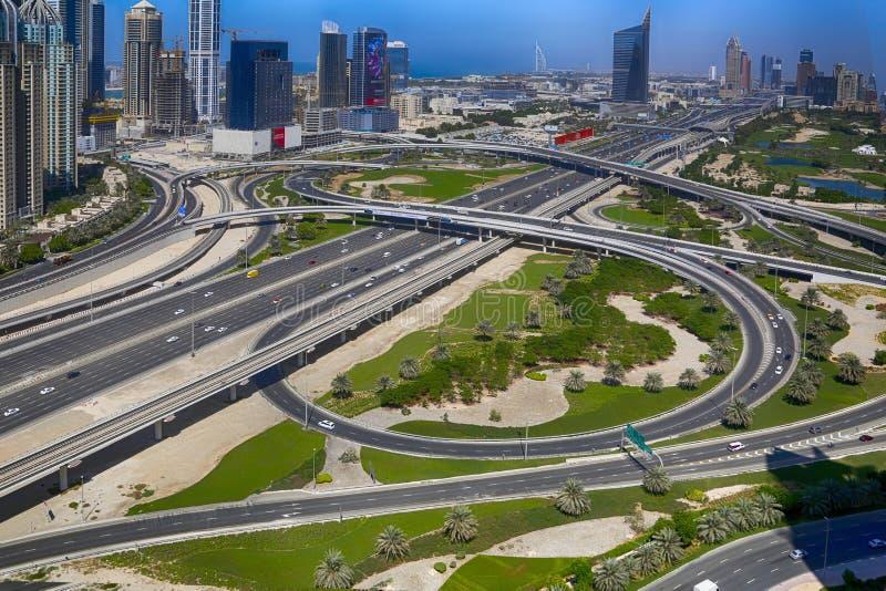 Bridżowa No5 Zayed Sheikh droga obrazy stock