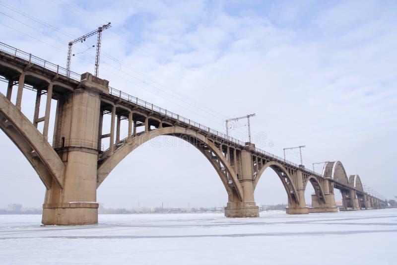 bridżowa zima obraz royalty free