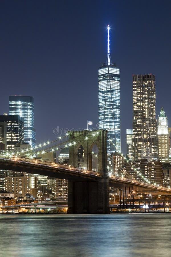 bridżowego Brooklyn miasta nowa linia horyzontu w York zdjęcie royalty free