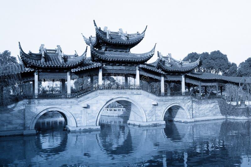 bridżowego chińczyka ogródu stary tradycyjny obrazy stock