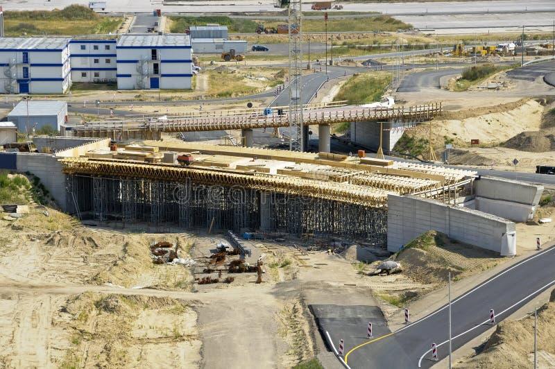 bridżowej budowy autostrada zdjęcie stock