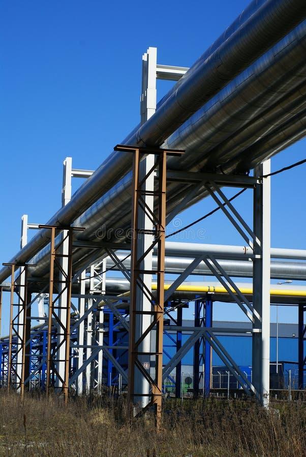 bridżowi pipe rurociągu przemysłowych obrazy stock
