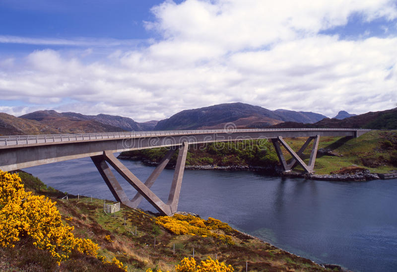 bridżowy assynt kylesku Scotland zdjęcia royalty free