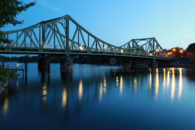 bridżowy Berlin glienicker Potsdam fotografia stock